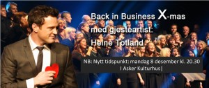 Endring i dato og tidspunkt for Back In Business X-mas