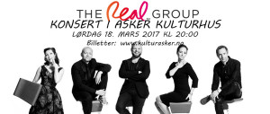 The Real Group Konsert i Asker Kulturhus Lørdag 18. mars kl 20:00